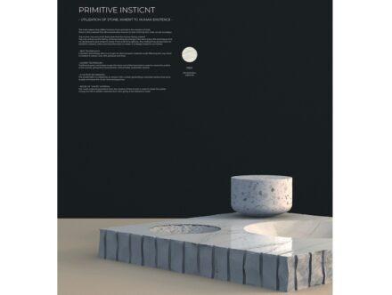 "Runner up in the design category: ""Primitive Instict""."
