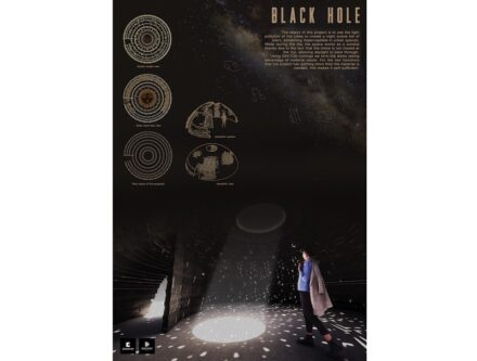 """Winner in the architecture category: """"Black Hole""""."""