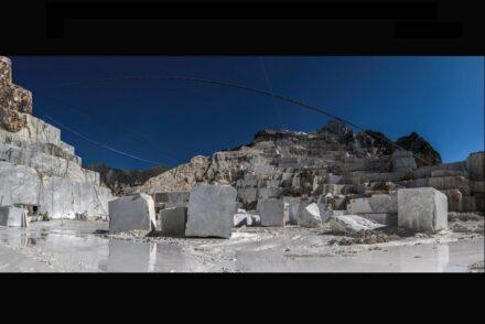 Quarry of white Italian marble.