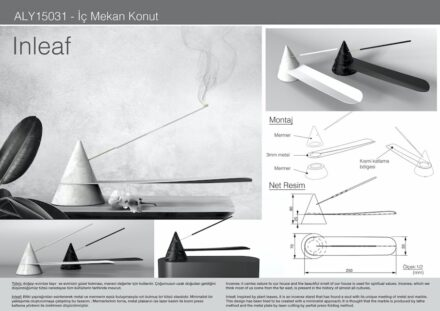 """Inleaf"" by Mehmet Ali Seven (students, Marmara University: holder for incense sticks."