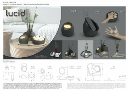 """Lucid"" by Elif Dilara Bora and Ozan Aksun (students, ODTÜ): home accessoires."