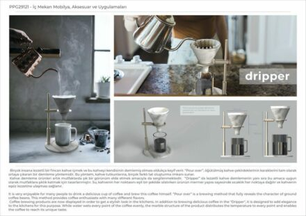 """Dripper"" by Cemre Aymelek, Gamze Sevimli and Gözde Karakoyunlu (professional designers): coffee filter for connoisseurs."