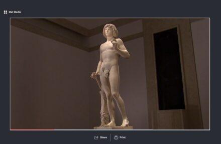 Sreenshot of one of the MET's videos.