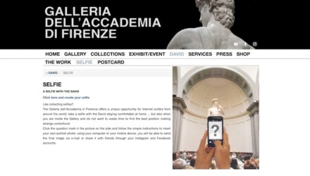 Screenshot of the Galleria dell'Accademia's webpage.