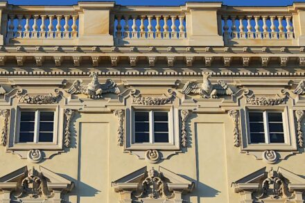 Facade details produced in large numbers by CNC machines.