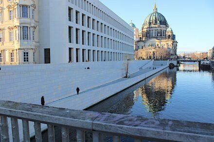 New attraction in Berlin: the Spree side of the Humboldt Forum.