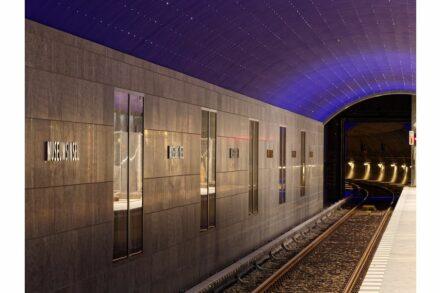 Der Bahnhof Museumsinsel mit der Sternendecke. Foto: BVG / Antonio Reetz-Graudenz