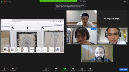 Screenshot from one of the virtual meetings between Turkish sellers and Vietnamese buyers and an interpreter.