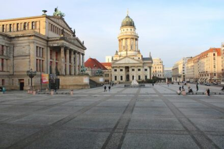 The Gendarmenmarkt in Berlin's city center.