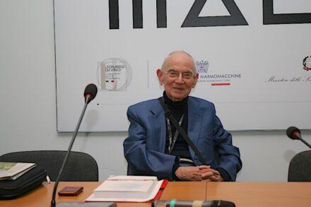 Dr. Carlo Montani at the press conference at Marmomac 2019.