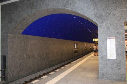 Der Bahnhof Museumsinsel mit der Sternendecke. Foto: Peter Becker
