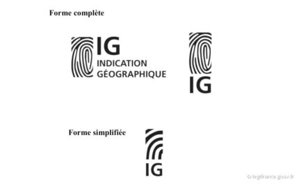 Logos of the Indication Géographique.
