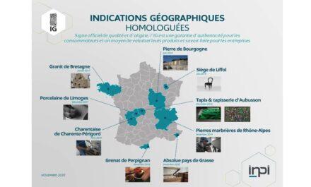 Die Produkte mit Status einer Indication Géographique (Stand mit nur 10 zertifizierten Produkten statt neuerdings 12).