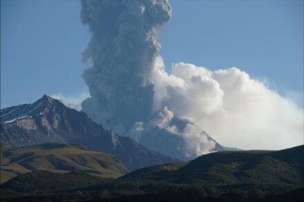 Shiveluch volcano in Kamchatka. Source: Michael Krawczynski, Washington University in St. Louis