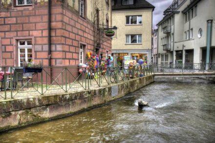 "Sturgeon stones already exist elsewhere. Here the crocodile in Freiburg/Breisgau. Photo: imbirkenweg / <a href=""https://commons.wikimedia.org/""target=""_blank"">Wikimedia Commons</a>, <a href="" https://en.wikipedia.org/wiki/Creative_Commons_license""target=""_blank"">Creative Commons License</a>"