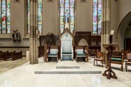 Renovierung / Restaurierung: Roman Catholic Cathedral of St. John the Baptist, Paterson, NJ. Ghirardi Stone Contracting New York, NY.