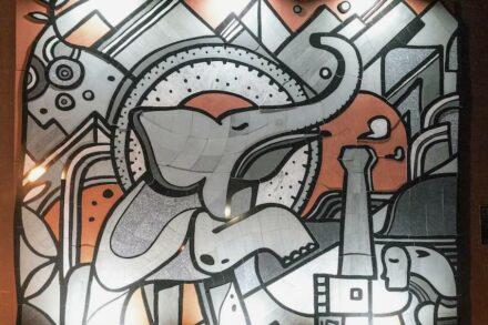 Öffentlicher Raum / Parks / Denkmäler: Fundidora Park Mural, Monterrey, Mexico. Creative Edge Master Shop Fairfield, IA.