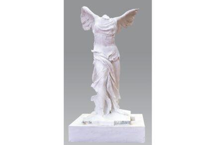 Schriften / Skulpturen: Nike of Samothrace: Samothrace Island, Greece. F.H.L.I. Kiriakidis Marbles-Granites Drama, Greece.
