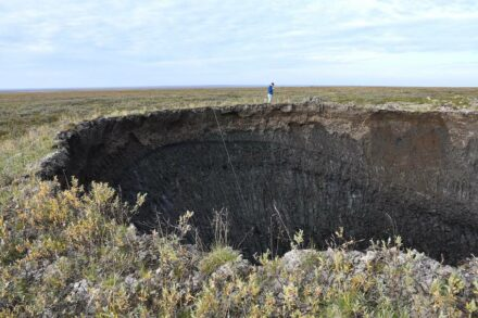 One of the craters. Photo: Evgeny Chuvilin