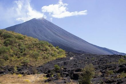 Scientists identified flank instability at Pacaya, an active volcano in Guatemala. Credit: Kirsten Stephens, Penn State
