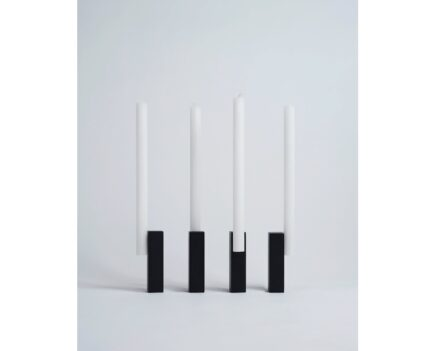 "Isabell Gatzen: candleholder ""Burning at Both Ends""."