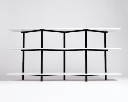 "Isabell Gatzen: book shelf ""Unity""."