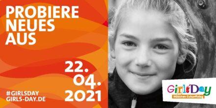 Flyer zuum Girls'Day 2021.