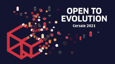 The logo of Cersaie 2021.