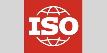 The logo of the International Organization for Standardization, which is also responsible for the many well-known ISO-standards.