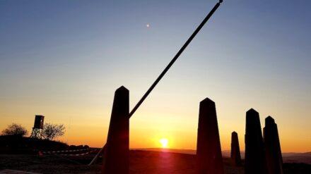 The walk-in sundial on the Reiserberg not far from Kaiserslautern in Germany.
