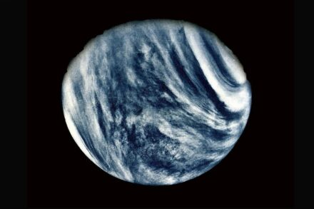 On Feb. 5, 1974, NASA's Mariner 10 mission took this first close-up photo of Venus. Photo: Nasa