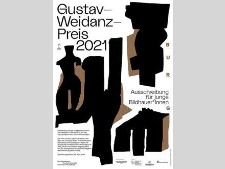 Poster zum Gustav-Weidanz-Preis 2021. Gestaltung: Vreni Knödler