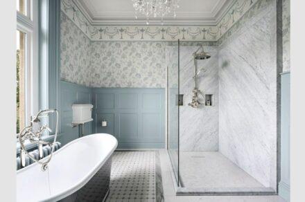 Bathroom by interior designers Lewis Knox.