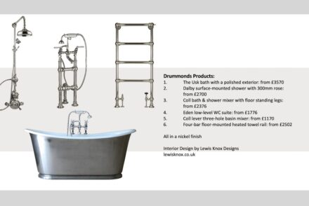 Drummonds' products used by interior designers Lewis Knox.