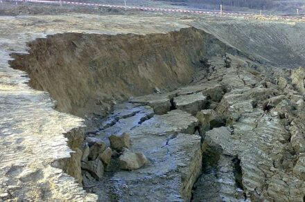 Mass movements like a landslide in the picture cause considerable damage year after year. Photo: Kieffer / TU Graz/DCNA