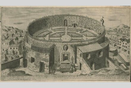 "Depiction of the ruins of the mausoleum (around 1600). Drawing: Etienne Dupérac. Source: Harvard University / <a href=""https://commons.wikimedia.org/""target=""_blank"">Wikimedia Commons</a>, <a href="" https://en.wikipedia.org/wiki/Creative_Commons_license""target=""_blank"">Creative Commons License</a>"