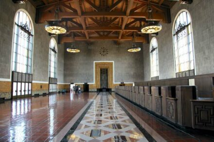 """Union Station Los Angeles. Photo: Bruce Boehner / <a href=""""https://commons.wikimedia.org/""""target=""""_blank"""">Wikimedia Commons</a>, <a href="""" https://en.wikipedia.org/wiki/Creative_Commons_license""""target=""""_blank"""">Creative Commons License</a>"""