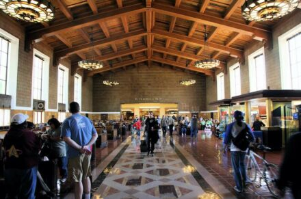 """Union Station Los Angeles. Photo: <a href=""""https://commons.wikimedia.org/""""target=""""_blank"""">Wikimedia Commons</a>, <a href="""" https://en.wikipedia.org/wiki/Creative_Commons_license""""target=""""_blank"""">Creative Commons License</a>"""