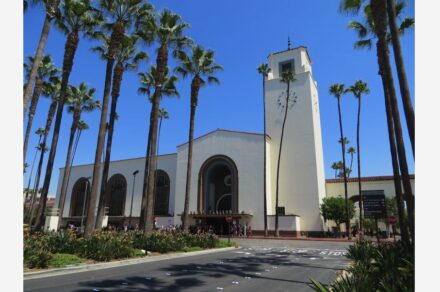 """Union Station Los Angeles. Photo: David Wilson / <a href=""""https://commons.wikimedia.org/""""target=""""_blank"""">Wikimedia Commons</a>, <a href="""" https://en.wikipedia.org/wiki/Creative_Commons_license""""target=""""_blank"""">Creative Commons License</a>"""