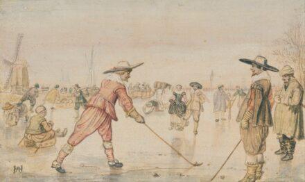 """Hendrick Avercamp (1585 - 1634): """"Eine Winterszene mit zwei Herren, die Colf spielen."""" Quelle: <a href=""""https://commons.wikimedia.org/""""target=""""_blank"""">Wikimedia Commons</a>, <a href="""" https://en.wikipedia.org/wiki/Creative_Commons_license""""target=""""_blank"""">Creative Commons License</a>"""