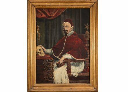 Guido Ubaldo Abbatini, Papst Alexander VII. mit Berninis Totenkopf, 1655/56 Öl auf Leinwand. Kunstsammlung des Souveränen Malteser-Ritter-Ordens, Rom (Sovereign Order of Malta - Grand Magistry). Foto: Nicusor Floroaica
