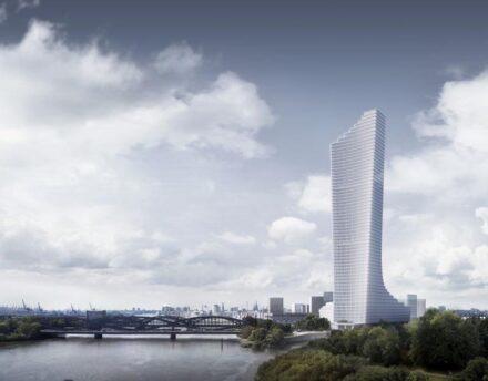 Mit 244 m soll der Elbtower das höchste Gebäude der Hansestadt werden. Rendering: David Chipperfield Architects