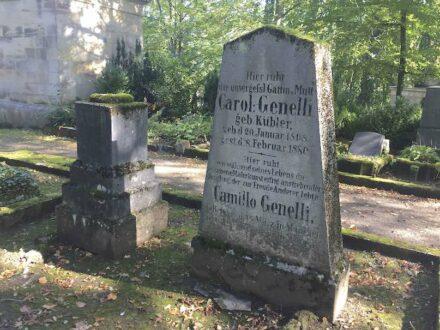 Die Grabanlage Bonaventura Genelli auf dem Historischen Friedhof in Weimar. Foto: Siebert / Deutsche Stiftung Denkmalschutz