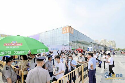 Einlasskontrolle zur 21. Xiamen Stone Fair.