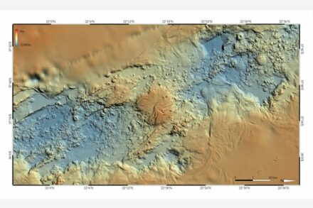 Bathymetric chart of a part of the Red Sea. Source: Geomar