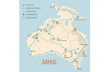 Revealing the Indigenous super-highways of ancient Australia. Source: Australian Research Council Centre of Excellence for Australian Biodiversity and Heritage (CABAH).