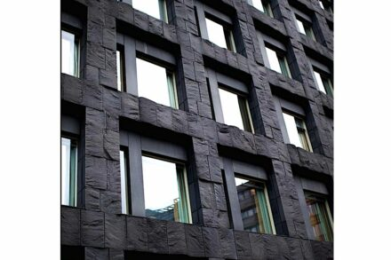 The Riksbank building clad with Moheda Black diabase.