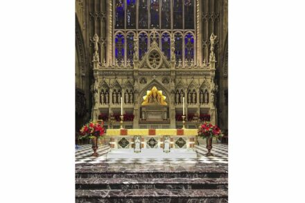 The 2020 Grande Pinnacle Award went to to Rugo Stone for their work on the Trinity Church Wall Street in New York City.