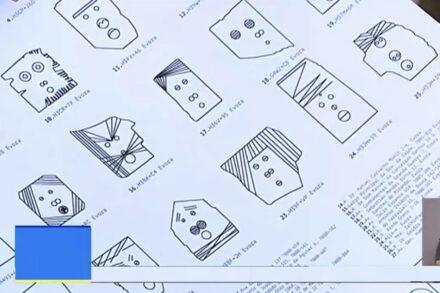 Screenshot aus dem Video: Stadtplan mit den 27 Arbeiten.