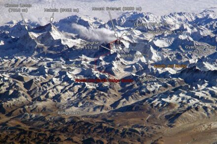 The Himalayan Mountain Range as seen from the international Space Station. Photo: Nasa, Jan Derk/ Wikimedia Commons